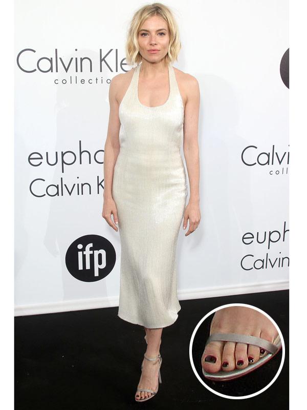 Sienna Miller nail polish
