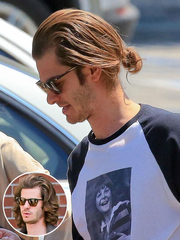 Andrew Garfield Long Hair Photos, Andrew Garfield Man Bun Photos ... Andrew Garfield