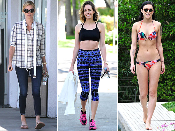 Charlize Theron, Louise Roe, Rumer Willis