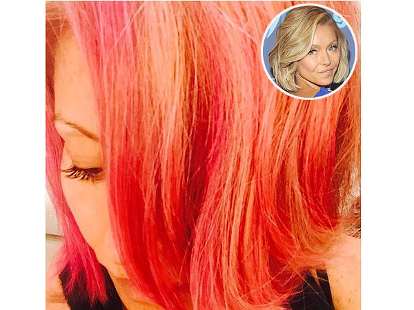 Kelly Ripa pink hair