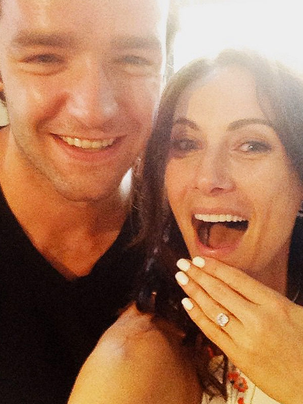 Laura Benati engaged