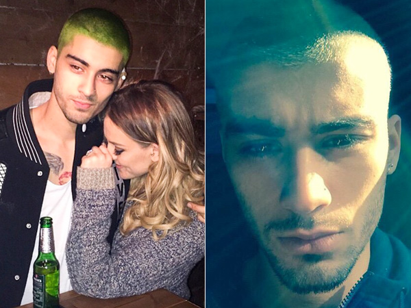 Zayn Malik dyes hair white