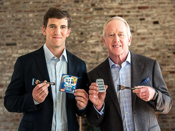 Eli Manning and Archie Manning for Gillette