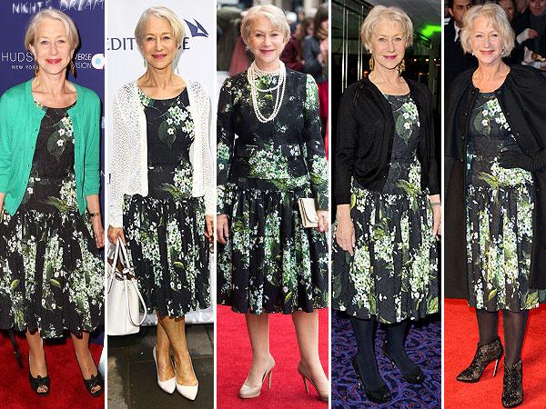 Helen Mirren's favorite Dolce & Gabbana dress