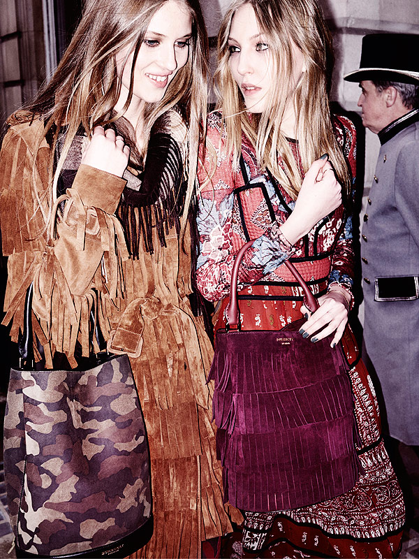 Florence Kosky and Ella Richards in the Burberry A