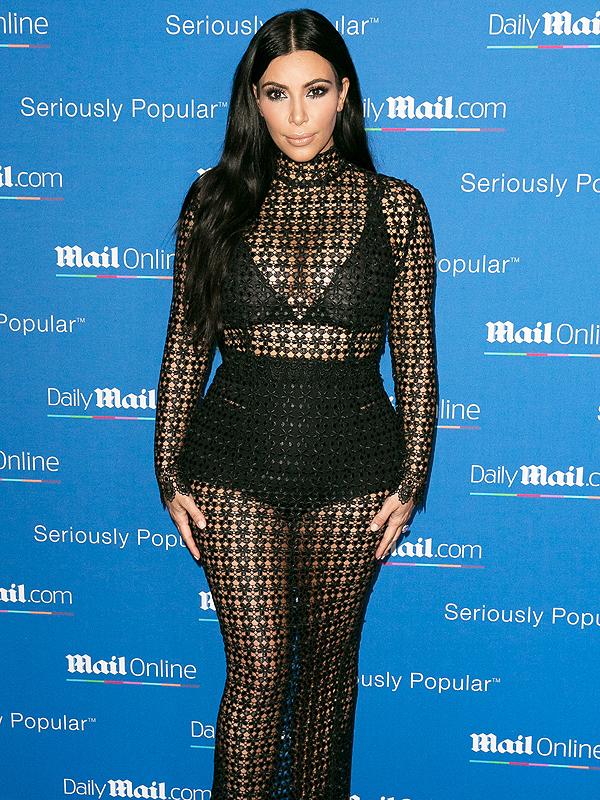Kim Kardashian sheer underpants dress
