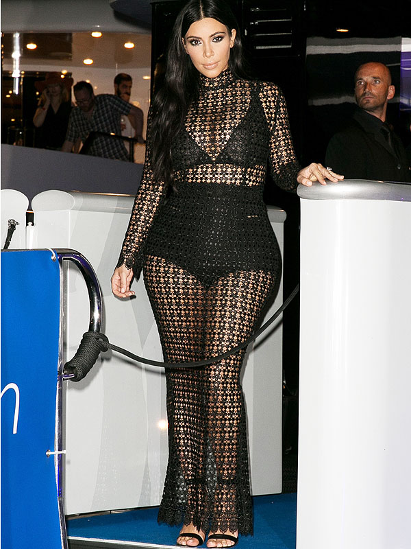 Kim Kardashian sheer underpants dress