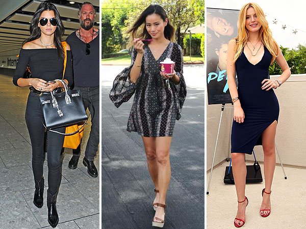 Kendall Jenner, Jamie Chung, Bella Thorne street style