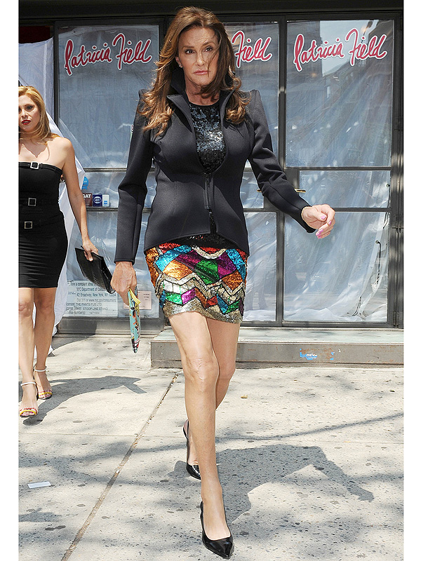Caitlyn Jenner sparkly mini skirt