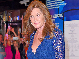 Caitlyn Jenner Hits the Town in a Curve-Skimming Blue Lace Dress and Yep, Those Slingbacks