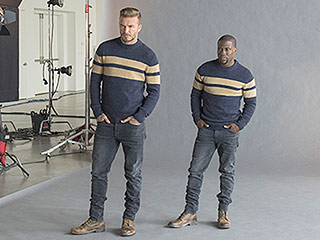 Twinning! David Beckham and Kevin Hart Wear Identical Outfits in Hilarious New H&M Ads (PHOTOS)