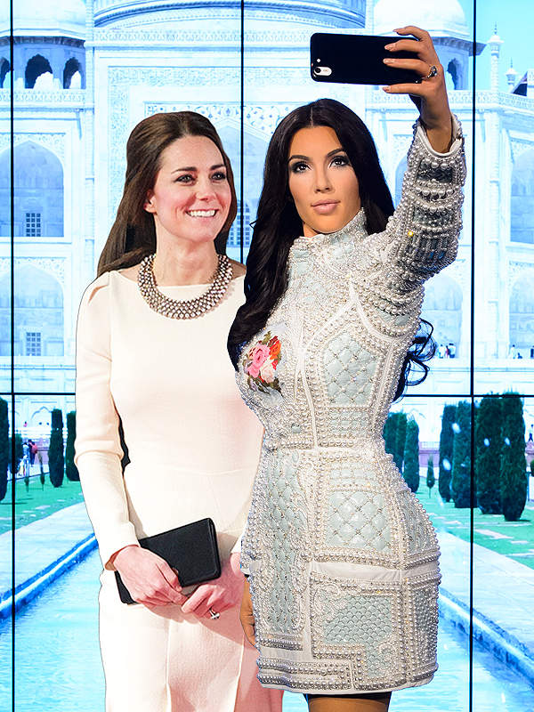 Kate Middleton and Kim Kardashian West