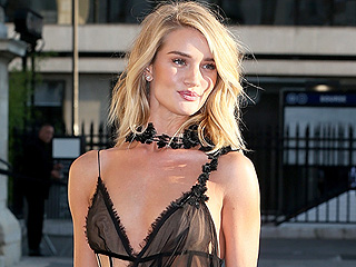 Rosie Huntington-Whiteley Leads a Parade of Naked Dresses at Versace Show, Brings Underbutt to the Front Row
