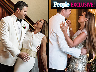 Vanessa Williams Wedding Photos: All the Details on Her Leather-Embellished Reception Dress, Jewelry and More!