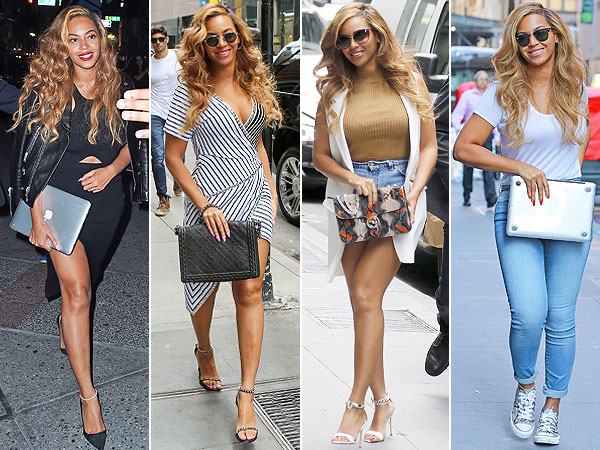 Beyonce jeans and t-shirt
