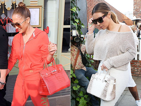 Celebrities carrying Birkin bags