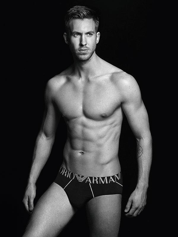 Calvin Harris Armani underwear ads