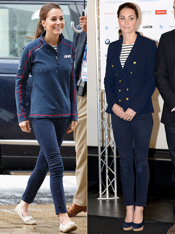 kate middleton navy blazer