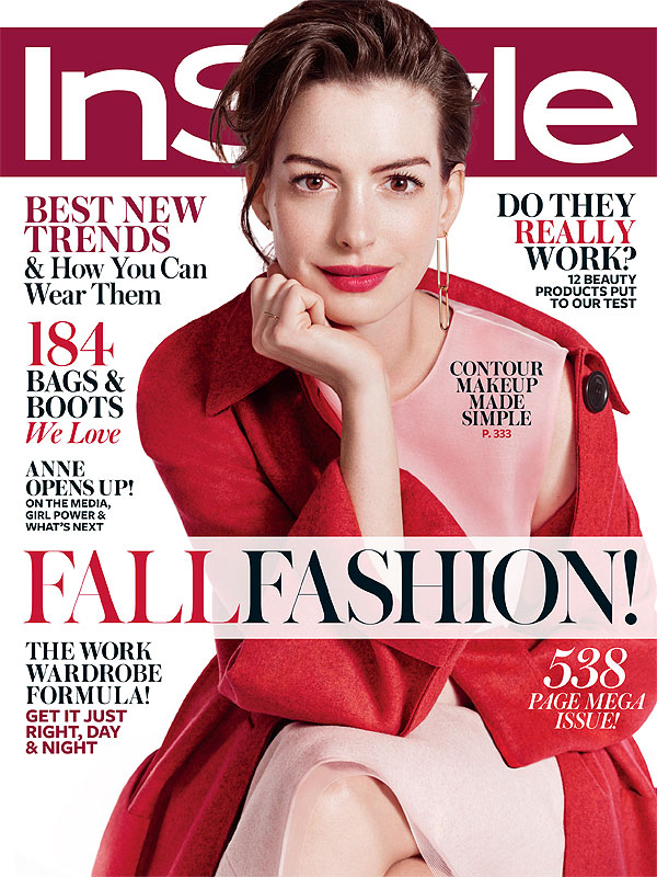 Anne Hathway InStyle cover