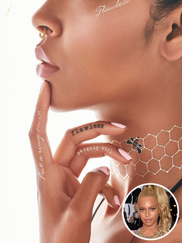 Beyonce Flash Tattoos