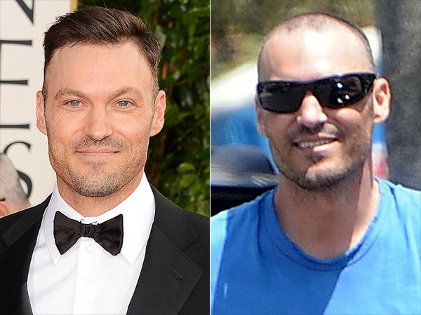 Brian Austin Green shaves his head