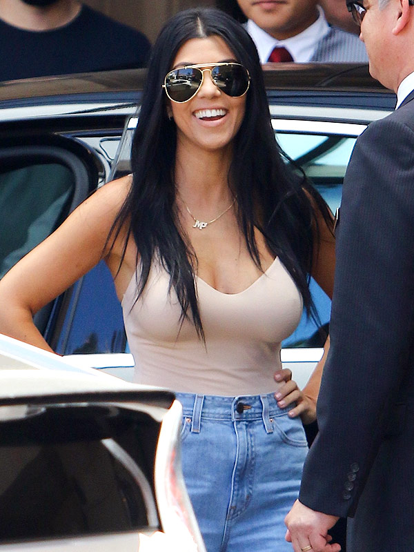 Kourtney Kardashian's Sexy Breakover Style Parade Continues – in a Nude Bodysuit
