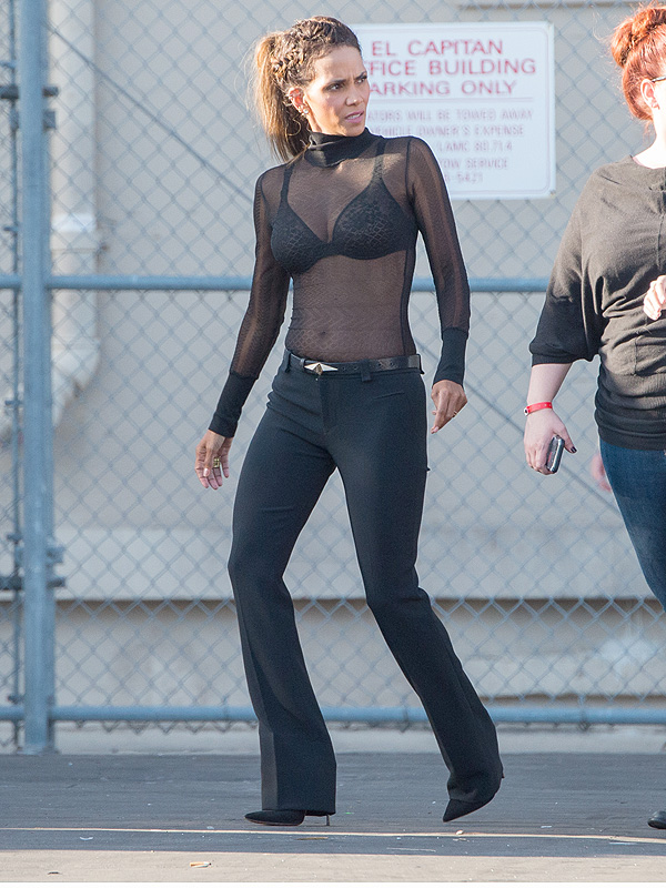 Halle Berry sheer top