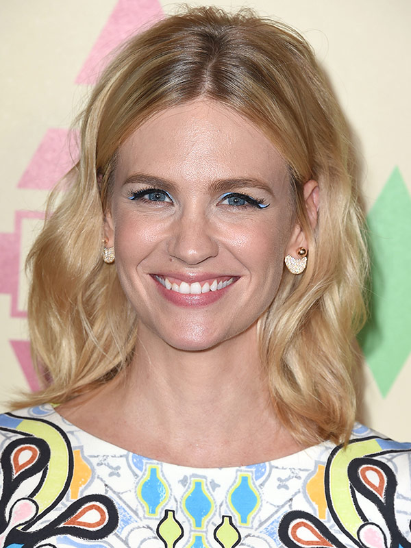 January Jones blue eyeliner