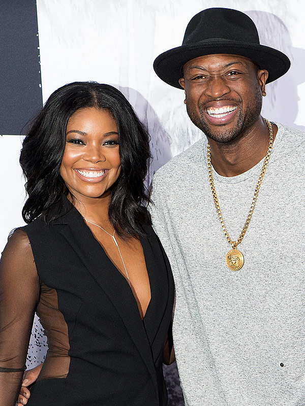 Gabrielle Union (L) and Dwyane Wade arrive for Uni
