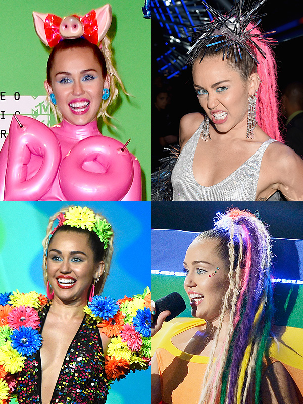 MTV VMAs 2015 Miley Cyrus hair