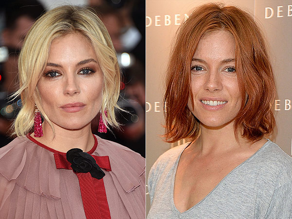 Sienna Miller dyes hair red