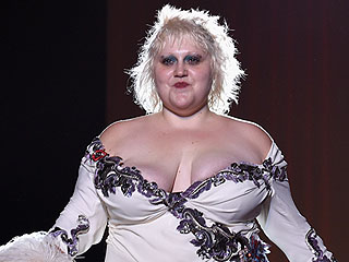 Beth Ditto Hits the Marc Jacobs Runway in a Low-Cut, High-Slit Gown!