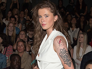 Ireland Baldwin Debuts David Bowie Tattoo at Fashion Week!