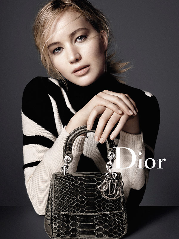 Jennifer Lawrence Dior ads fall 2015