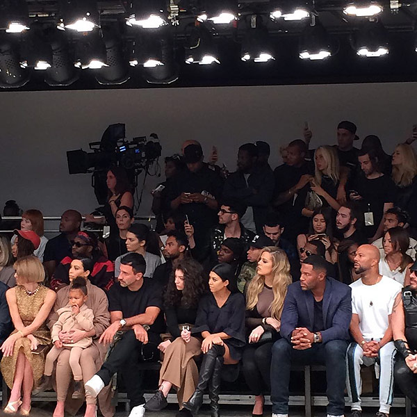 Kim Kardashian and family at NYFW