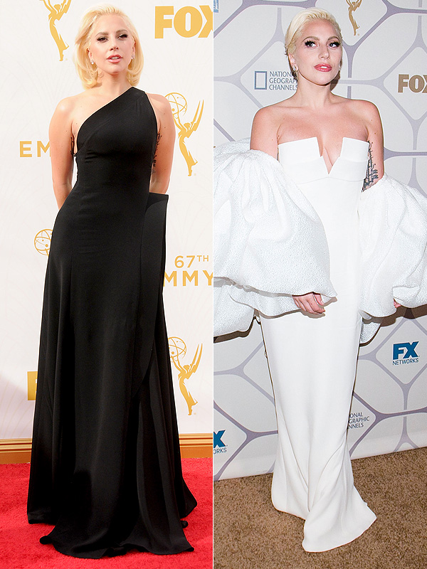 Lady Gaga Emmys Outfit change