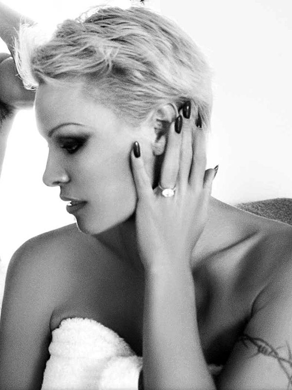 Pamela Anderson engagement ring