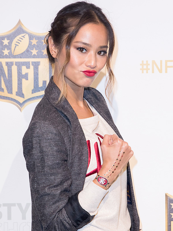 Jamie Chung in attendance for NFL Style Showdown