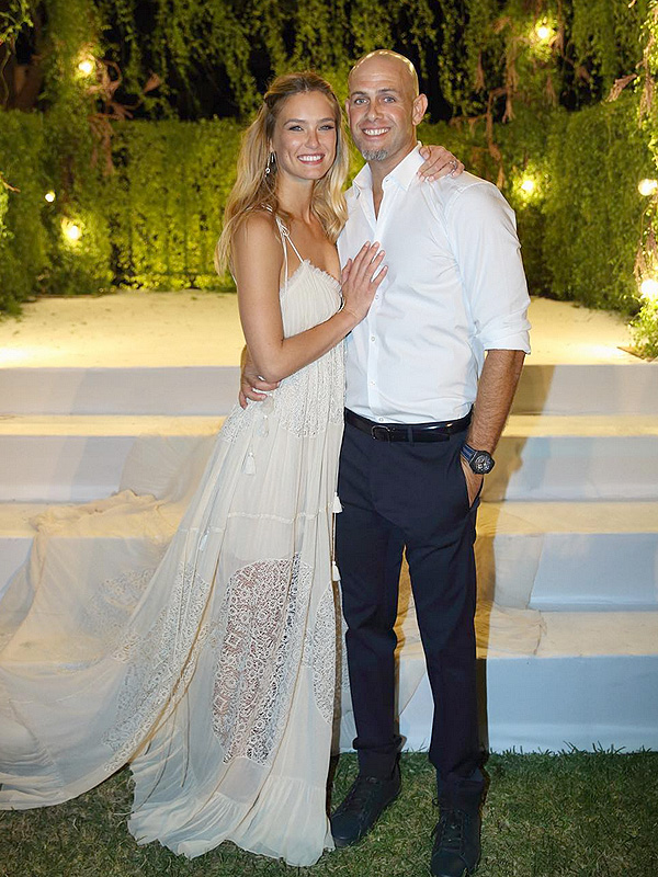 Bar Refaeli and Adi Ezra wedding photo