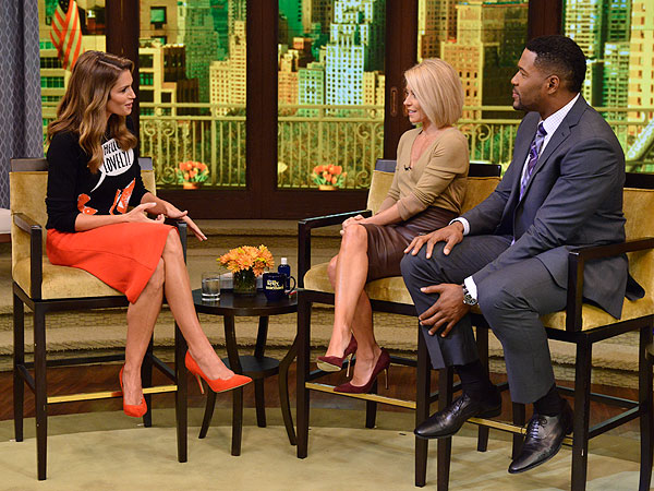 Cindy Crawford Live With Kelly & Michael