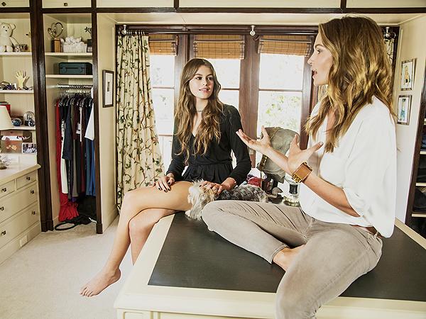 Cindy and Kaia inside my closet