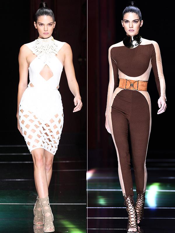 Kendall Jenner Balmain Runway