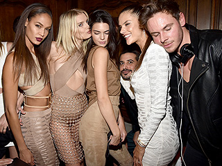 Babes in Beige Balmain: Kendall Jenner Coordinates With Fellow Paris Fashion Week Models