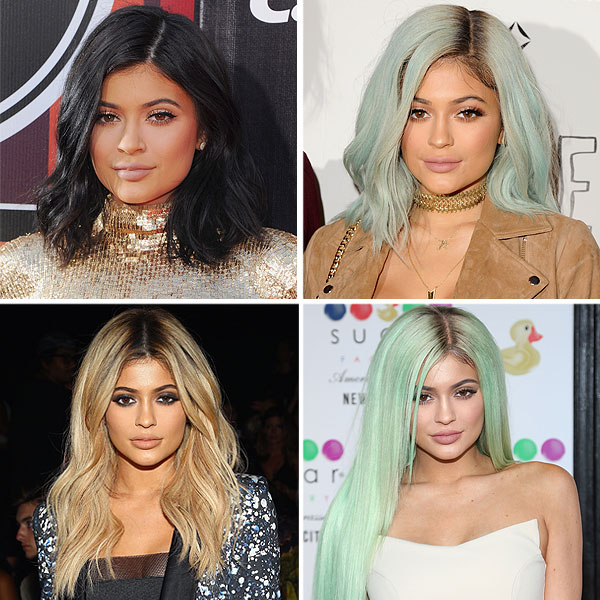 Kylie Jenner colorful hair