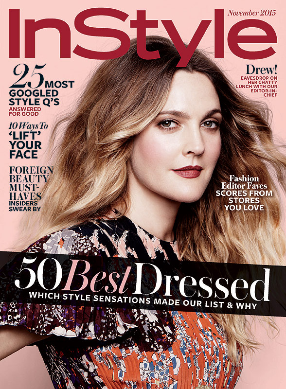 Drew Barrymore InStyle 2015