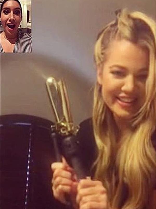 Khloé Kardashian hair