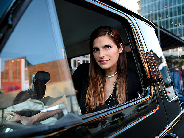 Lake Bell at a Madewell event; Courtesy Madewell