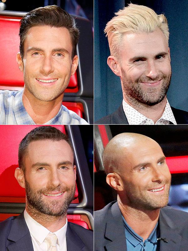 Adam Levine hair changes