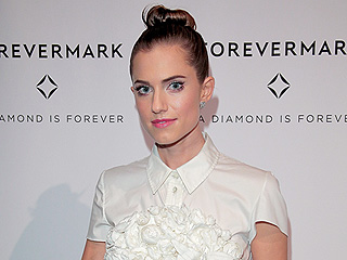 Allison Williams' Topknot Is the Hairstyle You'll Want to Wear With Your Fall Scarves