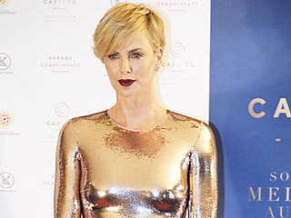 Charlize Theron Goes Galactic on the Red Carpet! See Her Bold Metallic Moment